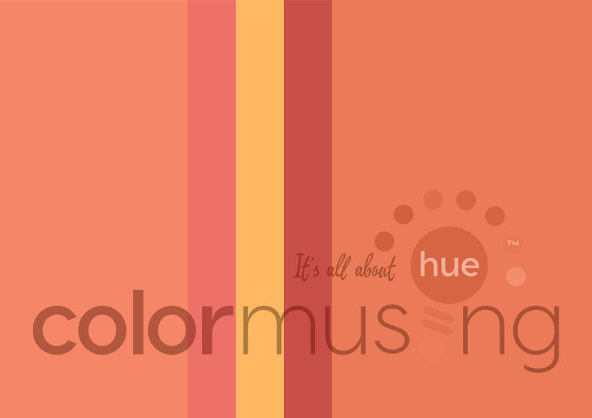 Just Peachy Color Palette: Downloadable Editable PSD/JPEG Files