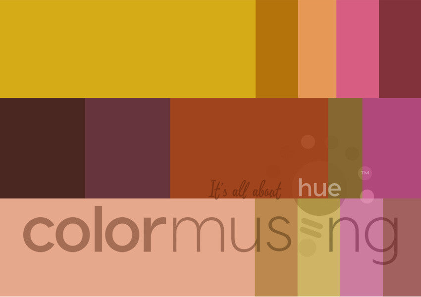 Misty Leaves Color Palettes Curated Collection, instant-download set of 3 palettes, editable PSD/JPEG files