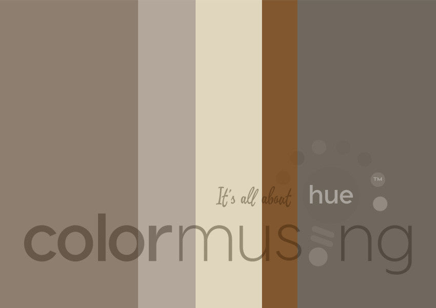 Mushrooms Color Palette: Downloadable Editable PSD/JPEG Files