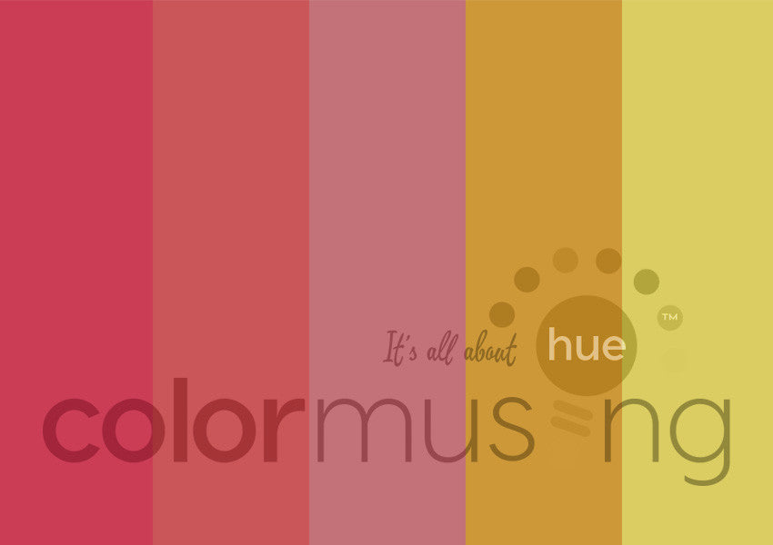 Ombré Roses Color Palette: Downloadable Editable PSD/JPEG Files