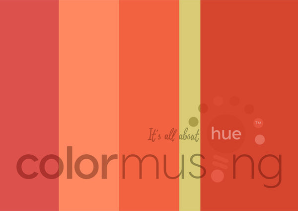 Orange Zest Color Palette: Downloadable Editable PSD/JPEG Files
