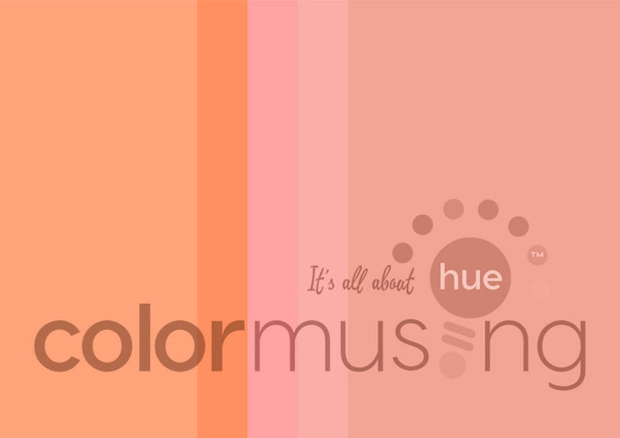 Peach Flamingo Color Palette: Downloadable Editable PSD/JPEG Files