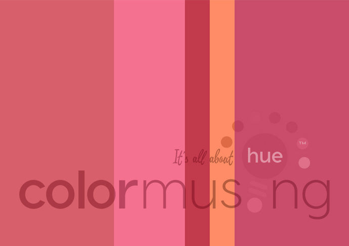 Pink Flamingo Color Palette: Downloadable Editable PSD/JPEG Files