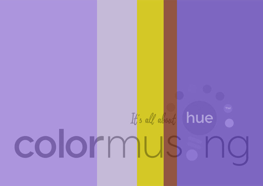 Purple Iris Color Palette: Downloadable Editable PSD/JPEG Files