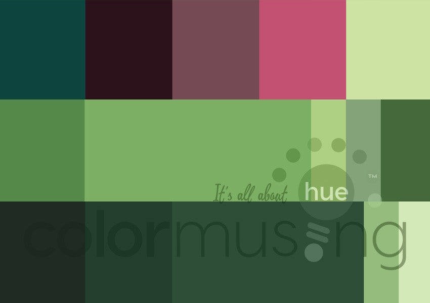 Reflections I  Curated Color Palettes Collection, instant-download set of 3 palettes, editable PSD/JPEG files