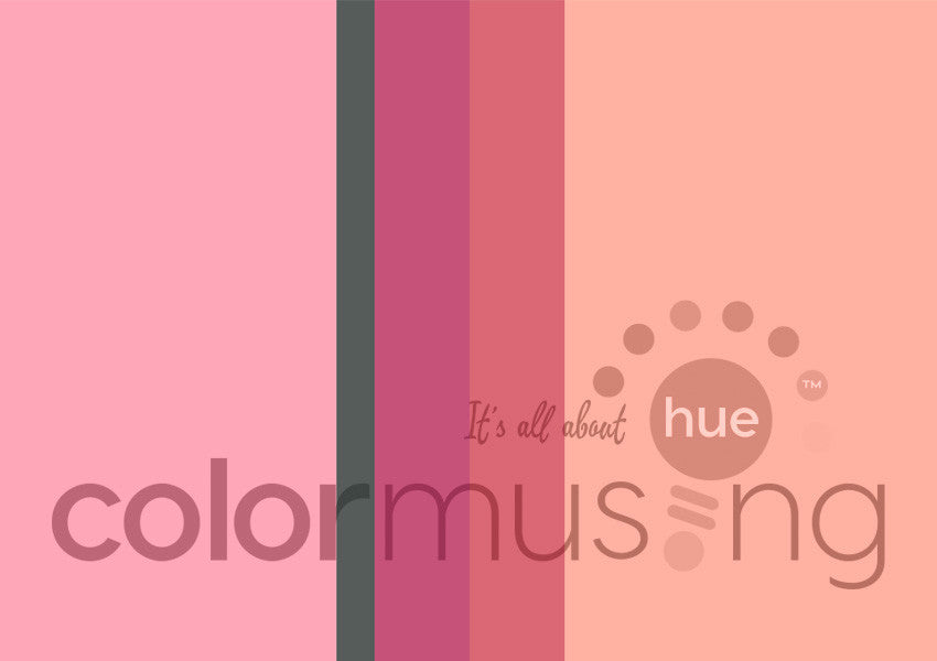 Rose du Mariage Color Palette: Downloadable Editable PSD/JPEG Files