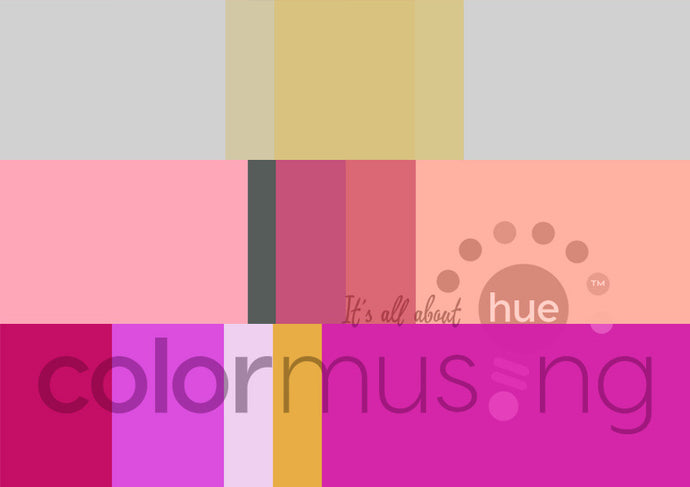 Roses I Curated Color Palettes Collection, instant-download set of 3 palettes, editable PSD/JPEG files