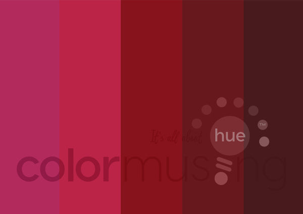 Ruby Color Palette: Downloadable Editable PSD/JPEG Files