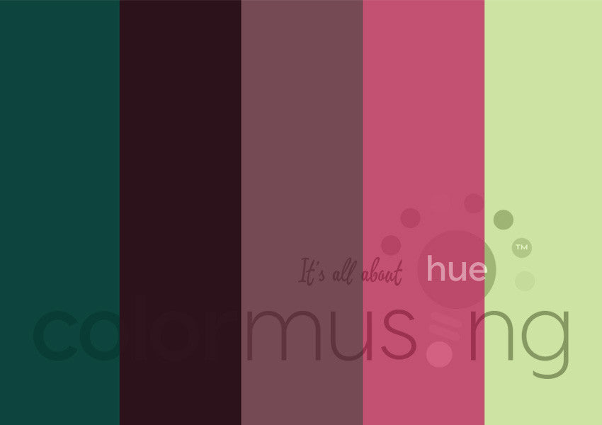 Spring Reflection Color Palette: Downloadable Editable PSD/JPEG Files