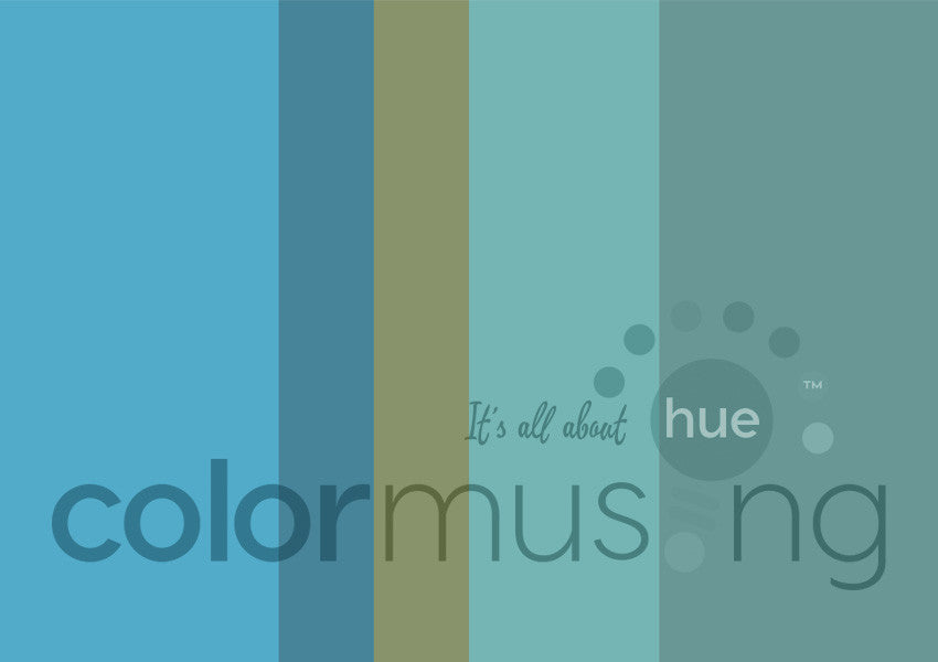 Turquoise Color Palette: Downloadable Editable PSD/JPEG Files