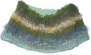 Stranded Skeins multi-strand art yarn in Golden Cypress (sage/olive/turquoise/gold/metallic gold)