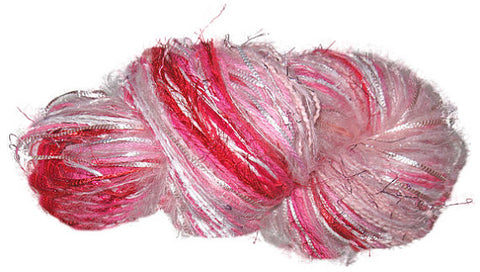 Scraplet Skeins multi-textured hand-tied yarn in Rockin' Robin