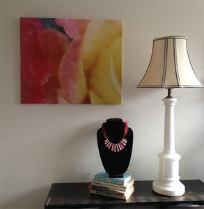 "Ombré Roses original enhanced photo printed on gallery-wrapped canvas, 24"" x 20"", ready to hang"