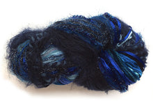 Load image into Gallery viewer, Scraplet Skeins multi-textured hand-tied yarn in Sapphire