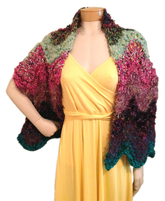 Feather & Fan Wrap Downloadable PDF Knitting Pattern