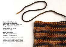 Load image into Gallery viewer, Hand-painted Superwash merino wool worsted-weight yarn in Tiger's Eye