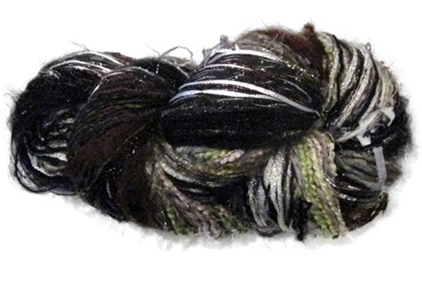 Scraplet Skeins multi-textured hand-tied yarn in Winter