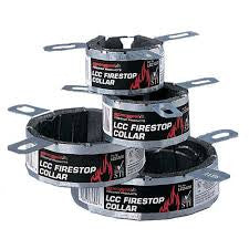 "4"" LCC Intumescent fire stop collars"