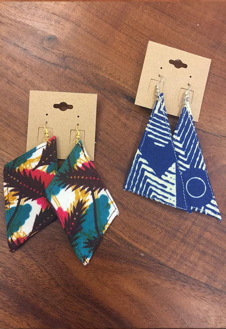"3 ½"" Fabric Earrings"