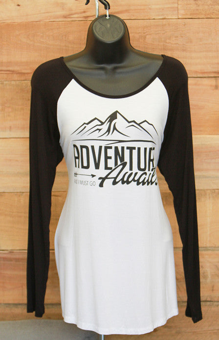 Adventure Awaits Baseball Shirt