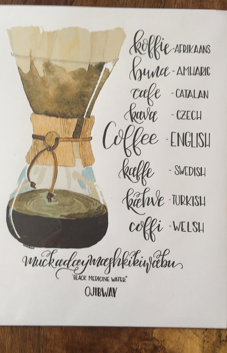 8x5 Art Print - Coffee