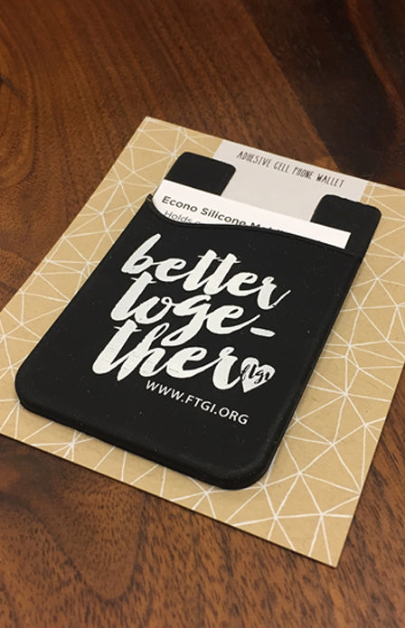 Better Together Adhesive Cell Phone Wallet