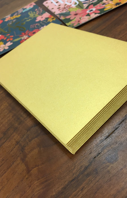 Gold Foil Thank You Card Set (10 Count)