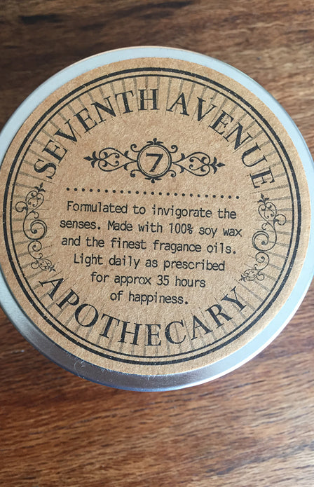 Small Seventh Avenue Apothecary Candle
