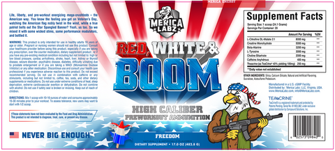 Merica Labz Red White & Boom Pre Workout