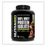 Nutra Bio 100% Whey Isolate Chocolate 5lb