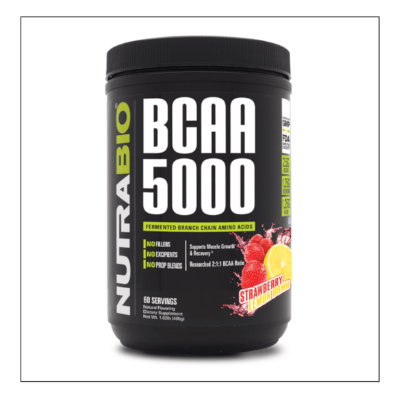 Nutra Bio BCAA 5000 Strawberry Lemon Bomb