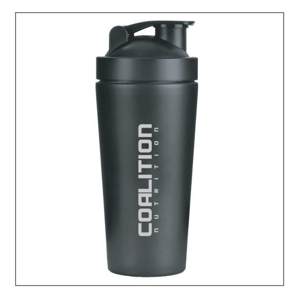 Coalition Nutrition Black Metal Shaker