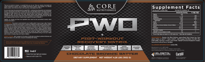 CoalitionNutrition,Core Nutritionals PWO - CoalitionNutrition