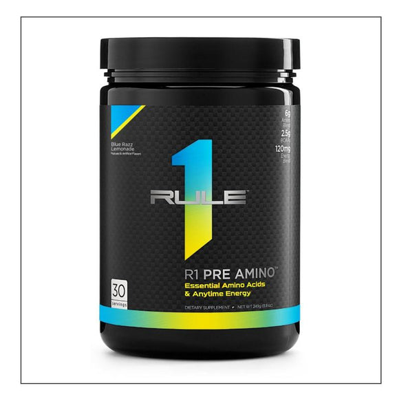 Rule 1 Pre Amino Blue Razz Lemonade