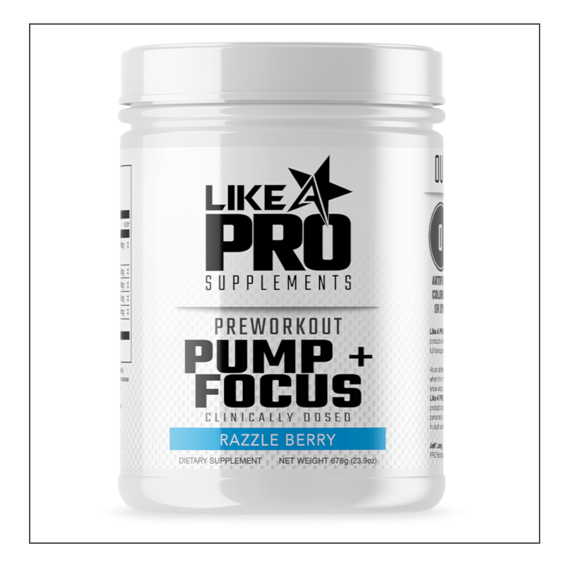 Like A Pro Supplements- Preworkout PUMP