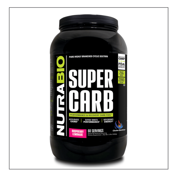 Nutra Bio Super Carb 60 Serving Raspberry Lemonade