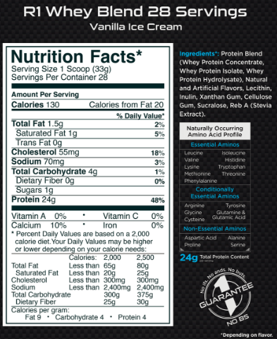 CoalitionNutrition,Rule 1 - R1 Whey Blend - CoalitionNutrition