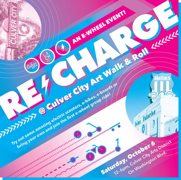 Test ride a Juiced Bike at the Recharge Event: Saturday October 6th, Culver City Arts Walk!
