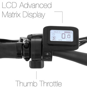 Detailed overview of the Advanced Matrix LCD display on the CrossCurrent S