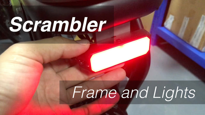 Scrambler Update - Securing Frames and Custom Lights