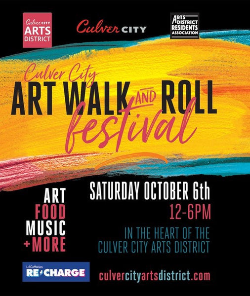 Just 2 more days! Saturday October 6th, Culver City Arts Walk!