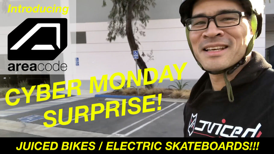 <strong>Cyber Monday Surprise</strong> - Introducing <strong>areacode</strong> Electric Skateboards