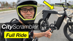 CityScrambler - Full Ride Video (52V/ 19.2Ah Pack Range Test)