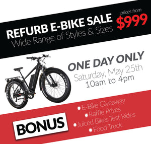 MAY 25th: JUICED BIKES WAREHOUSE SALE