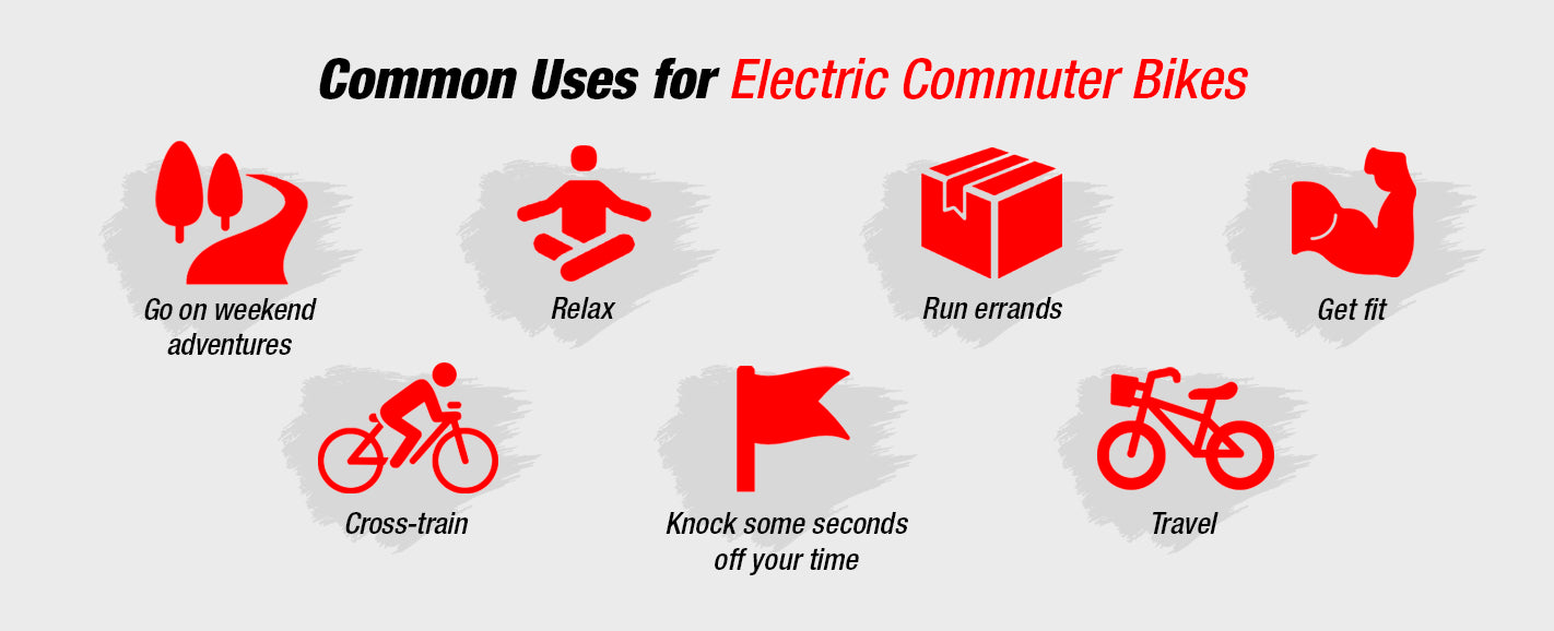 Common Uses for Electric Commuter Bikes