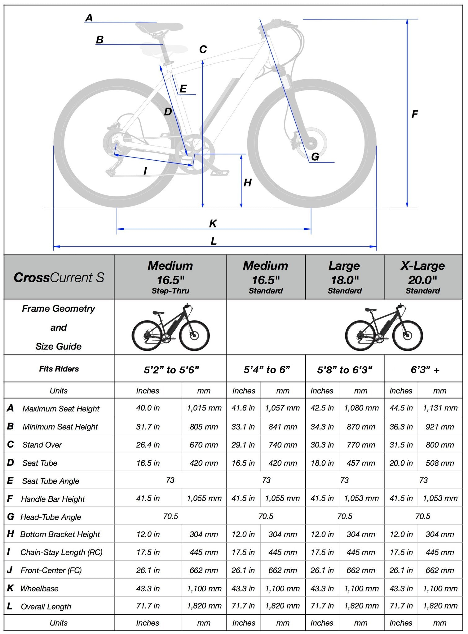 Frame Geometry and Size Guide – Juiced Bikes