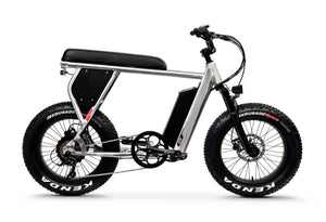 Side View of Brushed Aluminum HyperScrambler Electric Performance Bike