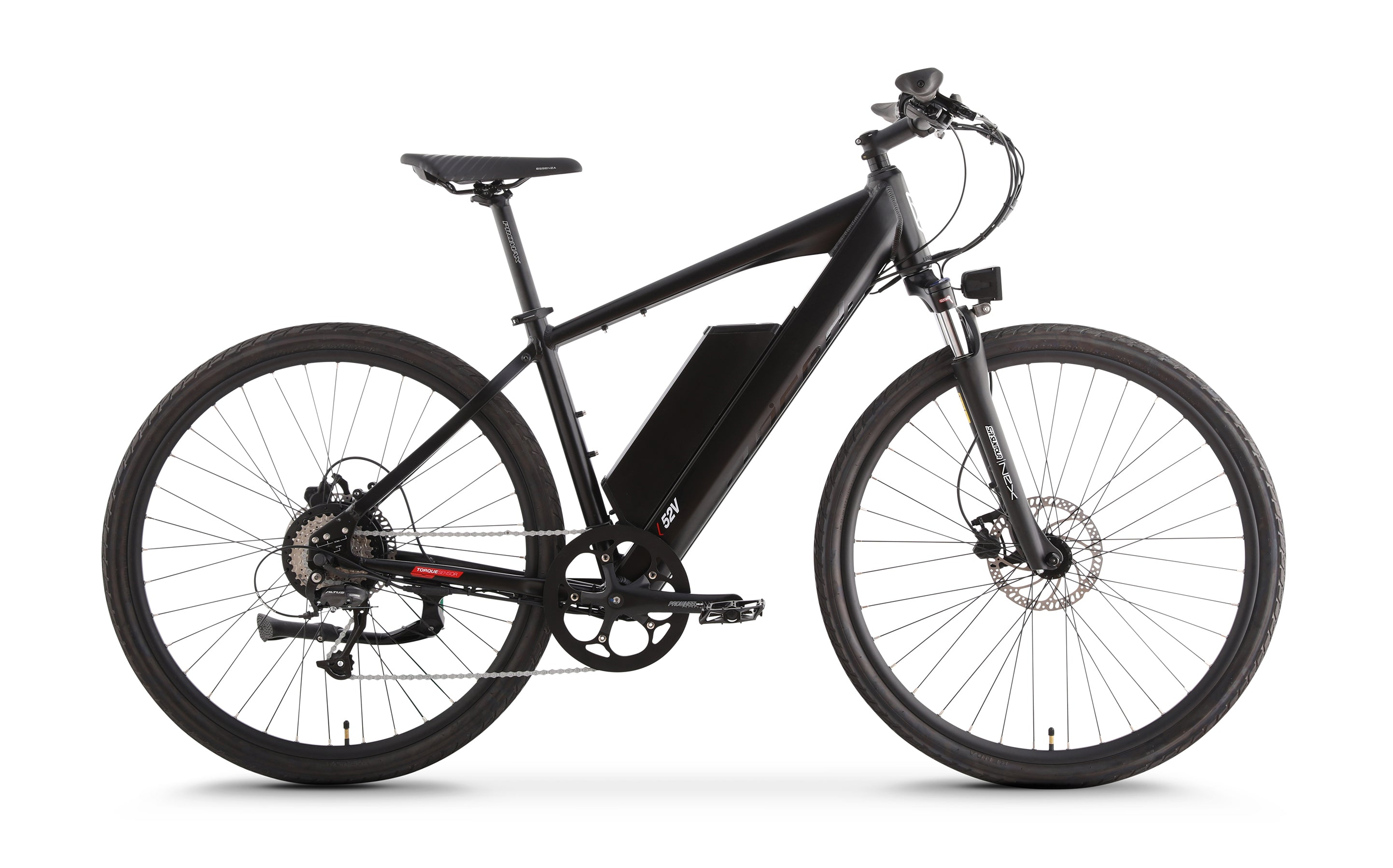 Black power assisted bike CrossCurrent S2