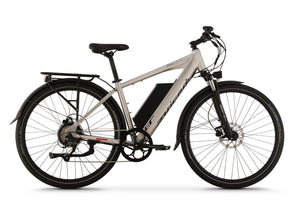 Side View of Brushed Aluminum CrossCurrent X Electric Commuter Bike