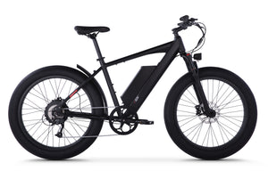 Side View of Black HyperFat Fat Tire Electric Bike